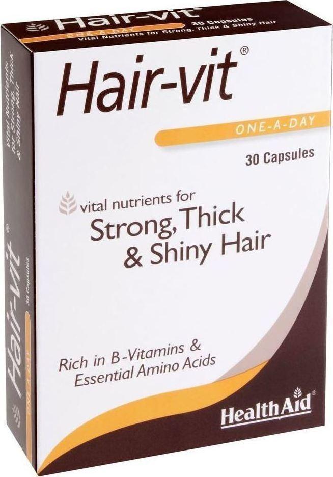 HEALTH AID  HairVit, Ιδανικός Συνδυασμός Βιταμινών & Μετάλλων για τα Μαλλιά - 30καψ