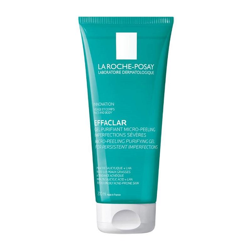 LA ROCHE POSAY Effaclar Micro Peeling Purifying Gel, Αφρώδες Gel Καθαρισμού - 200ml