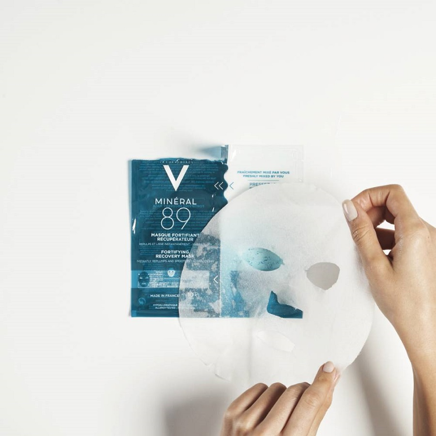 VICHY Mineral 89 Fortifying Instant Recovery Mask, Μάσκα Ενδυνάμωσης και Επανόρθωσης - 29g