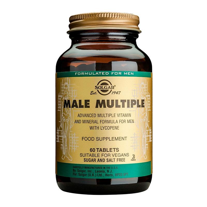 SOLGAR Male Multiple, Πολυβιταμίνη για τις Ανάγκες του Άνδρα - 60tabs