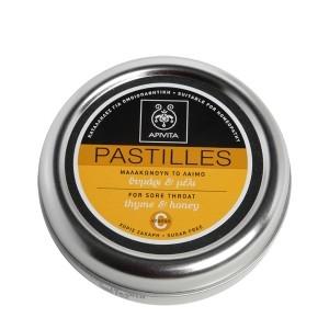 APIVITA Παστίλιες Για Τον Λαιμό Θυμάρι-Μέλι 45gr