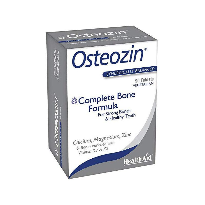 HEALTH AID Osteozin, Ασβέστιο, Μαγνήσιο, Ψευδάργυρος, Βιταμίνες D3 & K2 - 90tabs