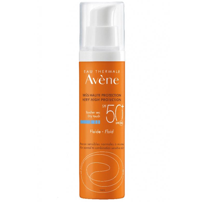 AVENE Fluid SPF50+, Αντηλιακή Λεπτόρρευστη Κρέμα Προσώπου - 50ml