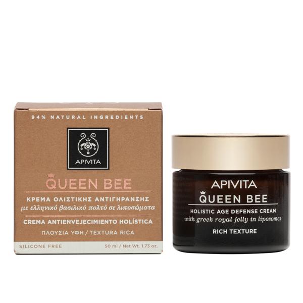 APIVITA Queen Bee Κρέμα Ολιστικής Αντιγήρανσης Πλούσιας Υφής 50ml