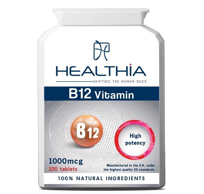 HEALTHIA Vitamin B12  1000mcg - 100 ταμπλέτες
