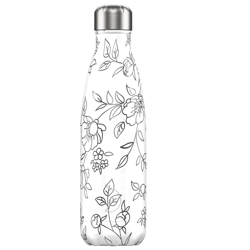 CHILLYS BOTTLES Μπουκάλι- Θερμός Flowers Line Art Edition - 500ml