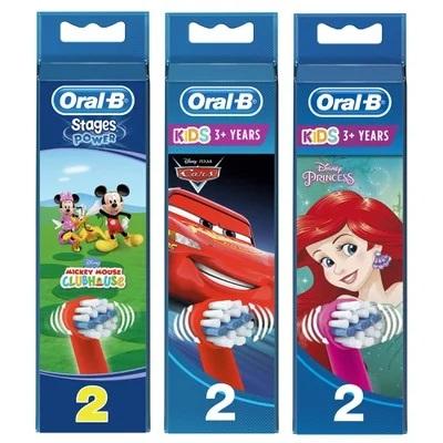 ORAL B Kids Stages Power Ανταλλακτικές Κεφαλές για Ηλεκτρικές Οδοντόβουρτσες - 2τμχ