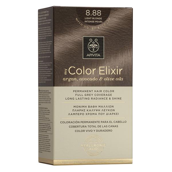 APIVITA My Color Elixir, Βαφή Μαλλιών No 8.88 - Ξανθό Ανοιχτό Έντονο Περλέ