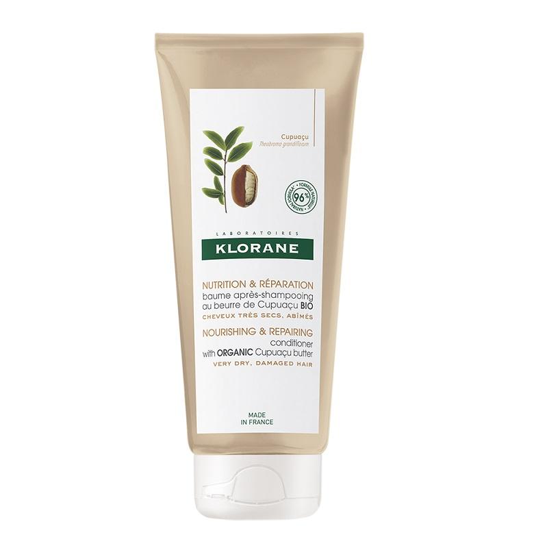 KLORANE Conditioner, Μαλακτική Κρέμα Θρέψης & Επανόρθωσης με Cupuaçu για Ξηρά Μαλλιά - 200ml