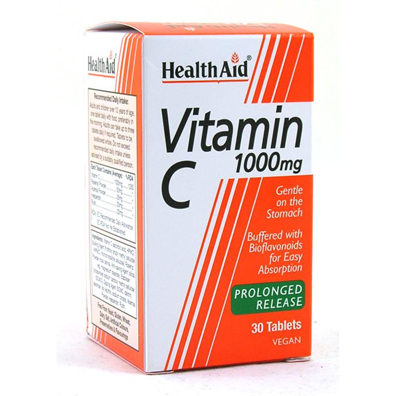 HEALTH AID Vitamin C 1000mg Βραδείας Αποδέσμευσης - 30tabs