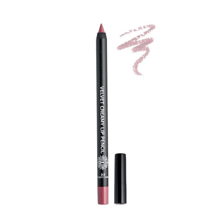 GARDEN Velvet Creamy Lip Pencil, Μολύβι Χειλιών, Dusty Pink No22 - 1,4gr