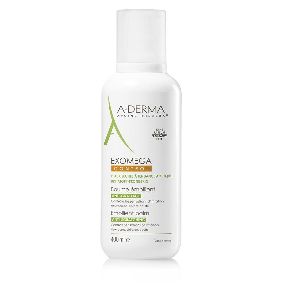 A-DERMA Exomega Control Baume Emolient, Μαλακτική Φροντίδα Ατοπικού Δέρματος - 400ml