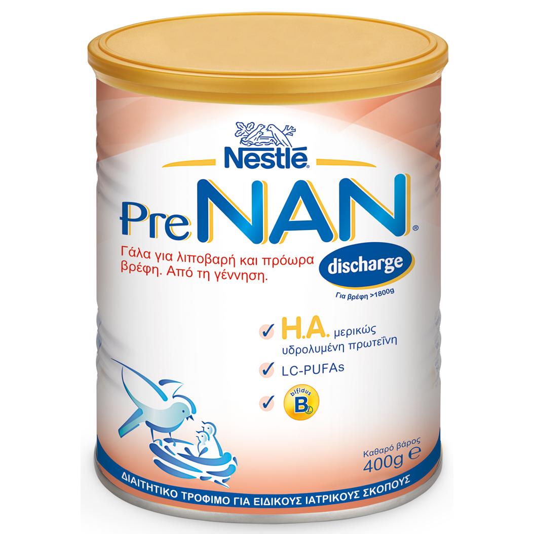 NESTLE Prenan Discharge- Ειδικό Γάλα Για Λιπόβαρη /Πρόωρα Βρέφη 400g