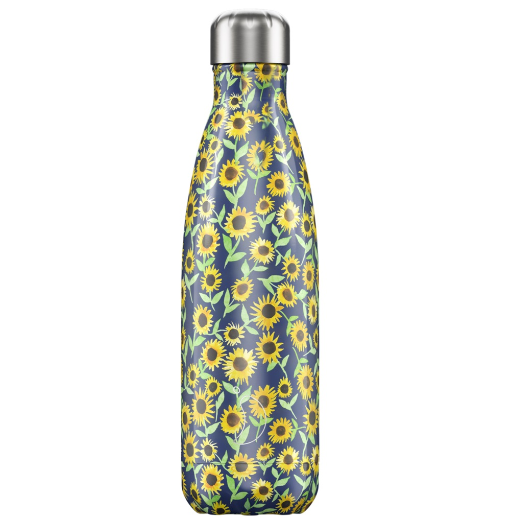 CHILLYS Bottles Μπουκάλι- Θερμός, Floral Sunflower - 500ml