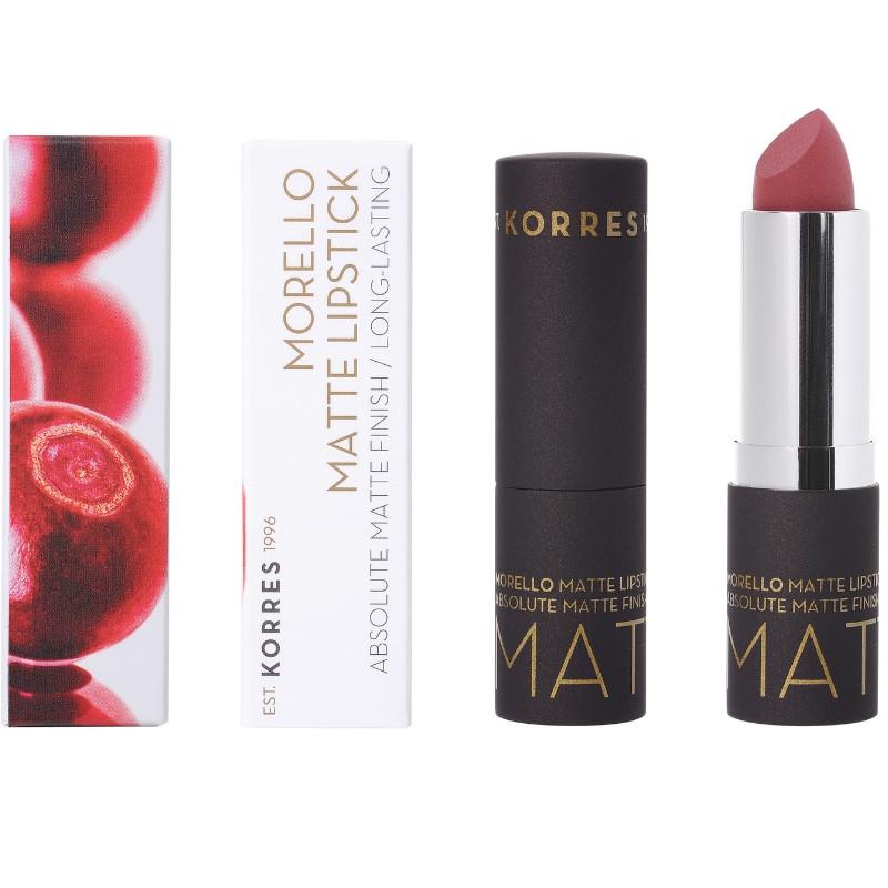 KORRES Morello Matte Lipstick 23 Natural Purple 3,5gr