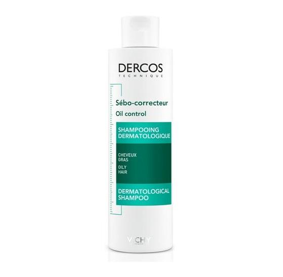 VICHY Dercos Oil Control, Σαμπουάν για Ρύθμιση της Λιπαρότητας - 200ml