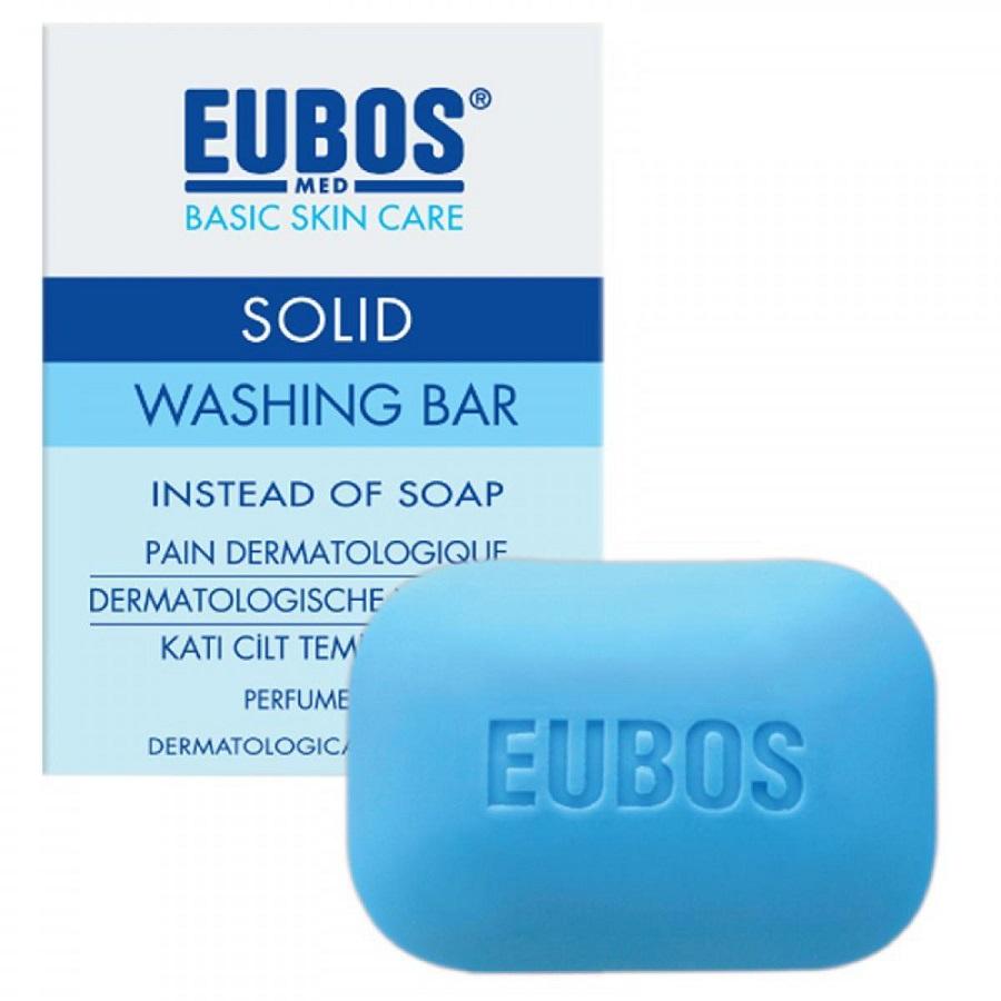 EUBOS Solid Blue, Σαπούνι Μπλέ -125g