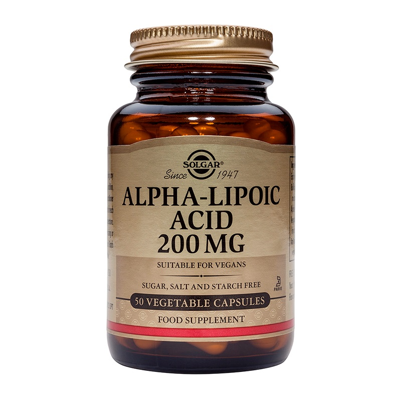 SOLGAR Alpha Lipoic Acid 200mg - 50 veg. caps
