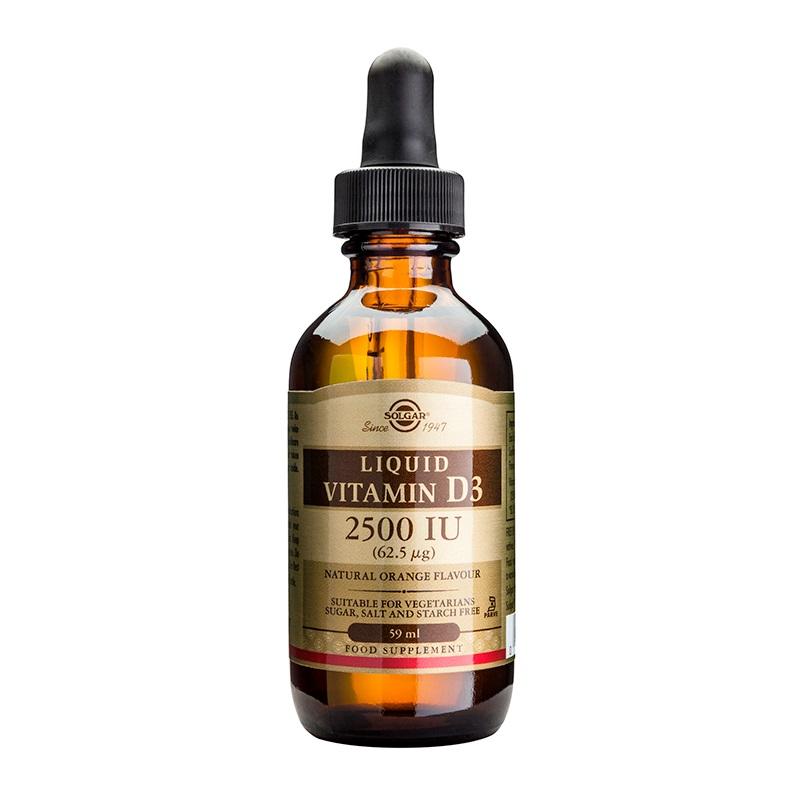SOLGAR Vitamin D3 2500IU liquid - 59ml