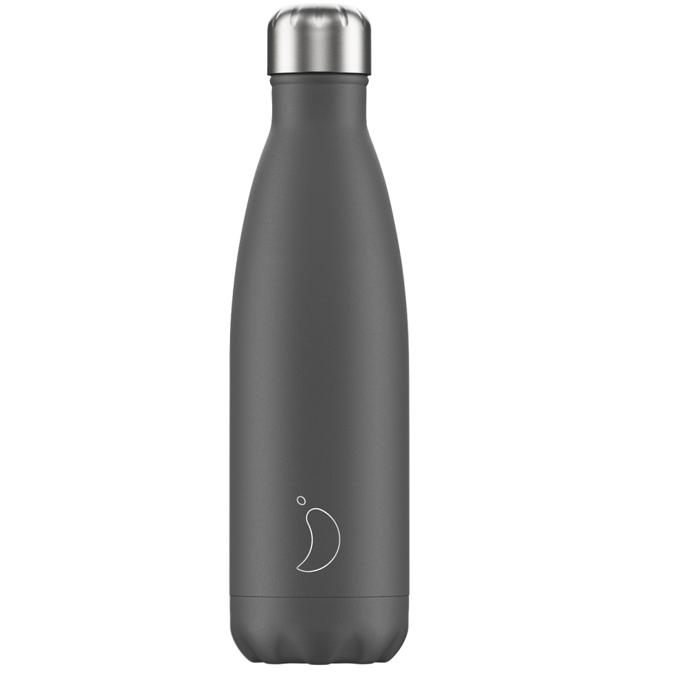 CHILLYS BOTTLES Μπουκάλι- Θερμός Monochrome Grey - 500ml