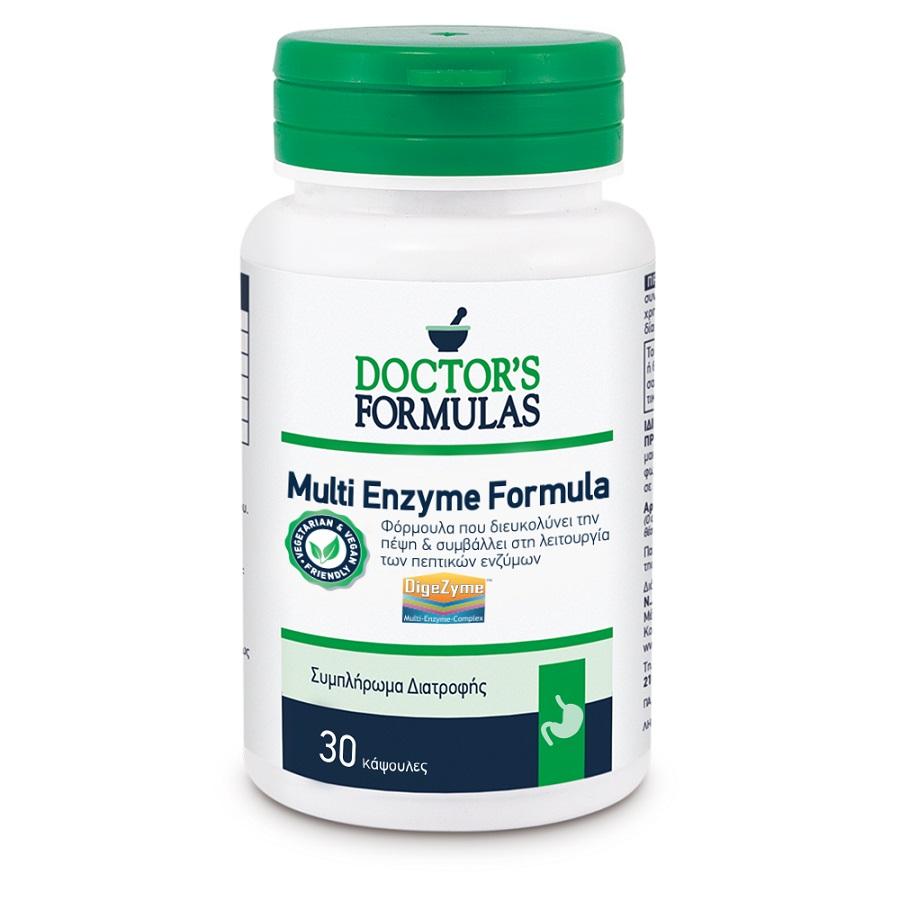 DOCTORS FORMULAS Multi Enzyme Formula, Διευκόλυνση Πέψης - 60caps