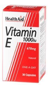 HEALTH AID Vitamin E 1000iu - 30caps