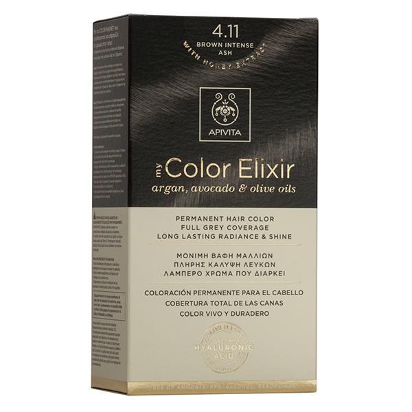 APIVITA My Color Elixir, Βαφή Μαλλιών No 4.11 - Καστανό Εντονο Σαντρέ
