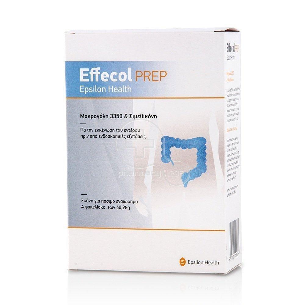 EPSILON HEALTH Effecol PREP - Για την εκκένωση του εντέρου πριν από ενδοσκοπικές εξετάσεις, 4 φακελίσκοι x 60.98gr