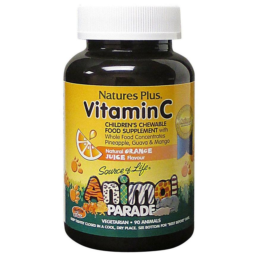 NATURE΄S PLUS Animal Parade Gummies, Vitamin C για Παιδιά - 90 Ζελεδάκια