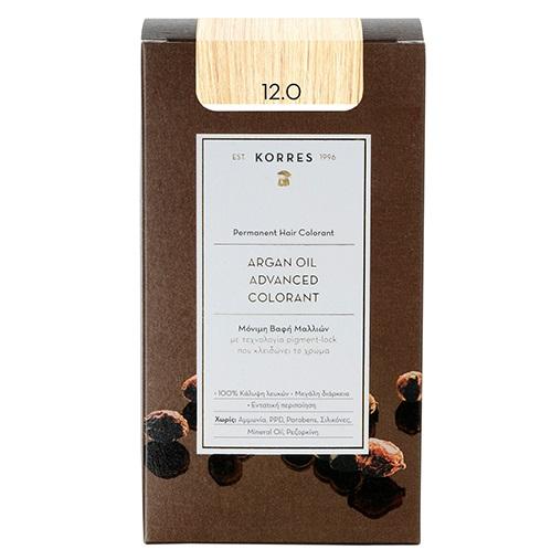 KORRES Βαφή Argan Oil 12.0 Ξανθό Σπέσιαλ - 50ml