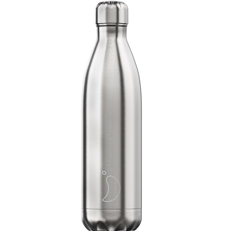 CHILLYS BOTTLES Μπουκάλι- Θερμός, Silver - 750ml