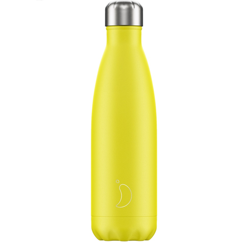 CHILLYS BOTTLES Μπουκάλι- Θερμός, Neon Yellow - 500ml