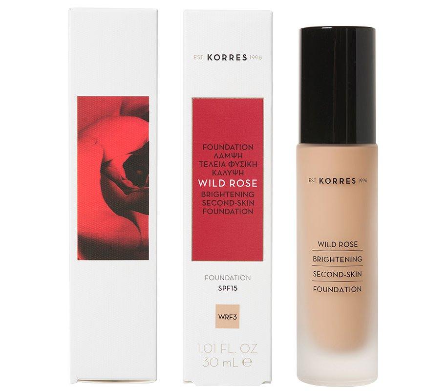 KORRES Άγριο Τριαντάφυλλο WRF3 Make-Up για Λάμψη & Τέλεια Φυσική Κάλυψη, 30ml