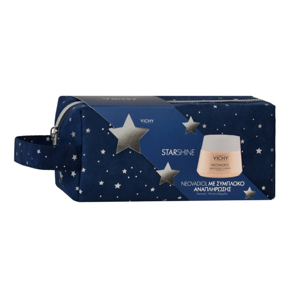 VICHY Starshine Neovadiol με Σύμπλοκο Αναπλήρωσης για Κανονική-Μικτή Επιδερμίδα - 50ml Με Δώρο Γιορτινό Νεσεσέρ