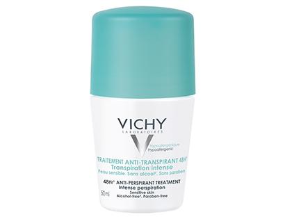 VICHY Deodorant Anti-Perspirant roll- on, 48ωρη Προστασία για Έντονη Εφίδρωση - 50ml