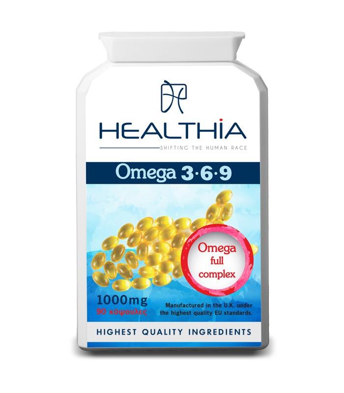 HEALTHIA Omega 3 6 9 1000mg - 90caps