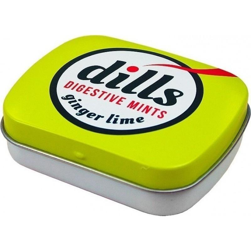 DILLS Digestive Mints Ginger & Lime, Παστίλιες για τη Χώνεψη - 15g
