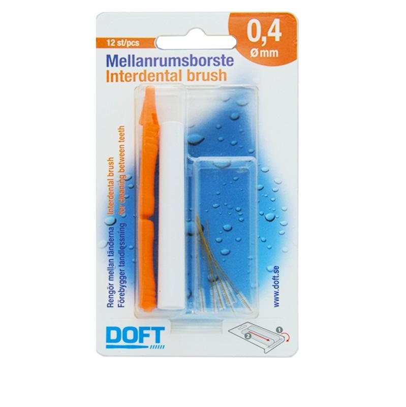 DOFT Interdental Brush, Μεσοδόντια Βουρτσάκια 0.4mm - 12τμχ