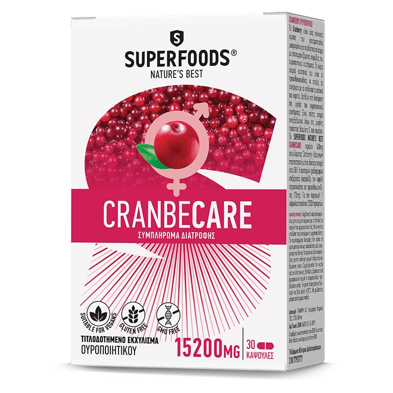 SUPERFOODS Cranbecare 15200mg - 30caps
