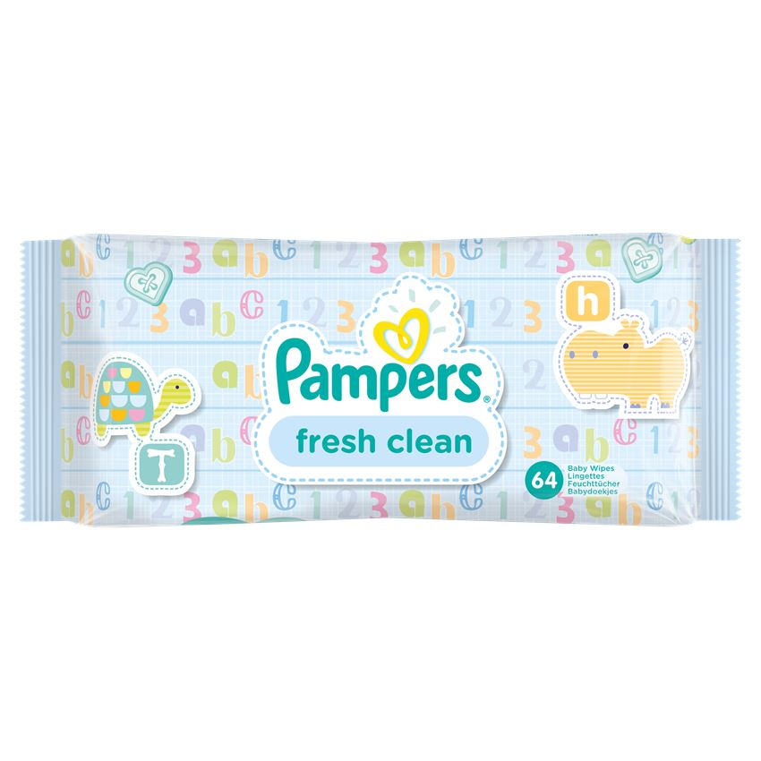 PAMPERS Baby Wipes Fresh Clean Μωρομάντηλα 64τμχ
