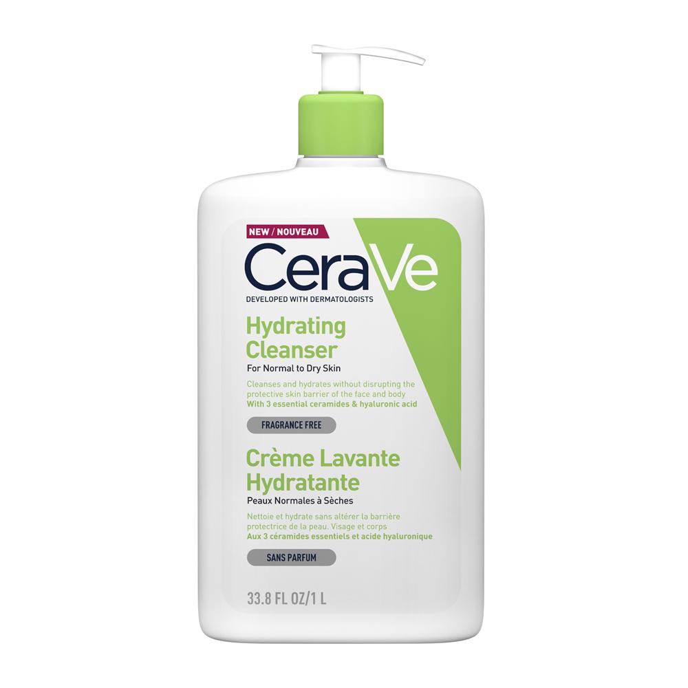 CERAVE Hydrating Cleanser Κρέμα Καθαρισμού Προσώπου & Σώματος - 1lt