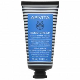 APIVITA Hand Cream, Κρέμα Χεριών για Ξηρά-Σκασμένα με Βάλσαμο & Μελισσοκέρι - 50ml