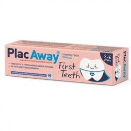 PLAC AWAY First Teeth Πρώτη Παιδική Οδοντόκρεμα με Γεύση Βανίλιας 50ml