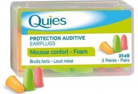 QUIES Foam Earplugs-Ωτοασπίδες από Μαλακή Πολυουρεθάνη 3 ζεύγη