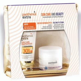 PANTHENOL EXTRA Sun Care and Beauty Set, Diaphanous SPF30 - 50ml & Δώρο Face And Eye Cream - 50ml