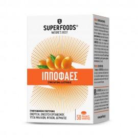 SUPERFOODS Ιπποφαές για Ενέργεια και Υγεία Μαλλιών, Νυχιών & Δέρματος - 50 Soft Caps