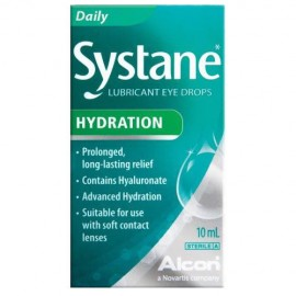 SYSTANE HYDRATION - Λιπαντικές Οφθαλμικές Σταγόνες με Υαλουρονικό Οξύ 10 ml