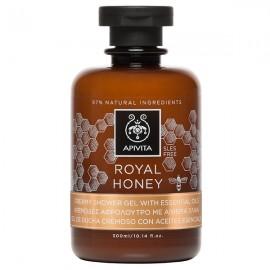 APIVITA Royal Honey Body Shower Gel, Κρεμώδες Aφρόλουτρο με Aιθέρια Έλαια - 300ml
