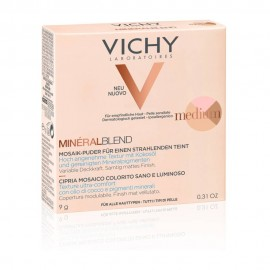 VICHY MineralBlend Healthy Glow Tri-Color Powder, Τρίχρωμη Πούδρα, Medium -9gr