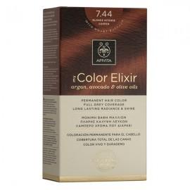 APIVITA My Color Elixir, Βαφή Μαλλιών No 7.44 - Ξανθό Έντονο Χάλκινο